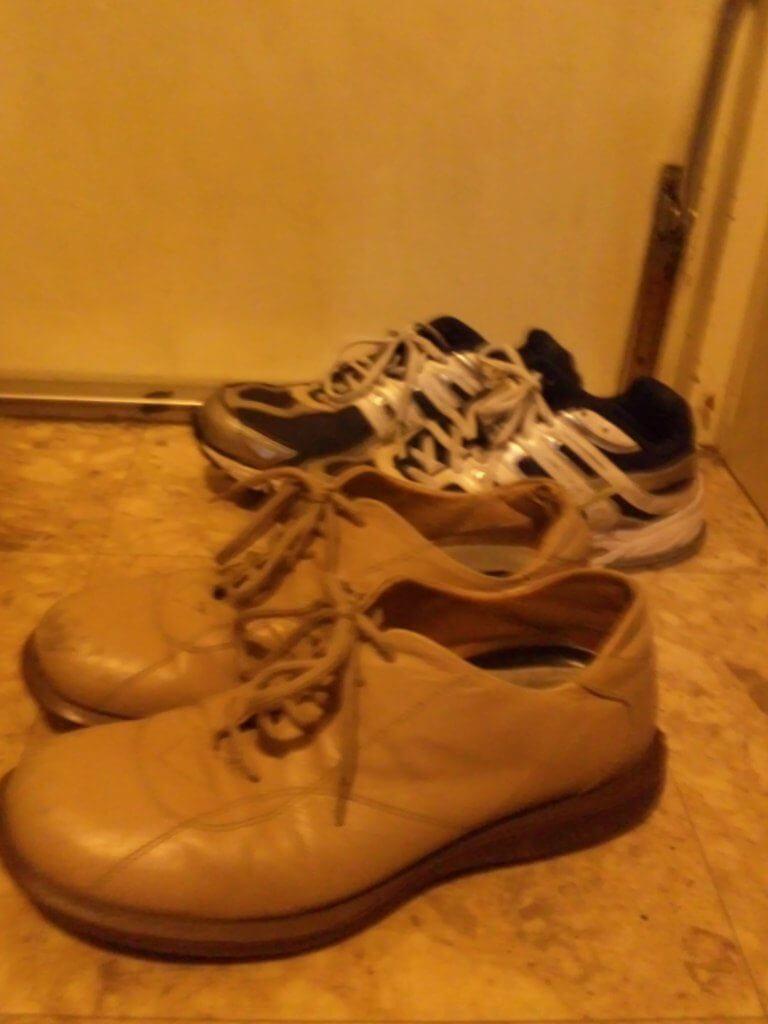 修理した靴